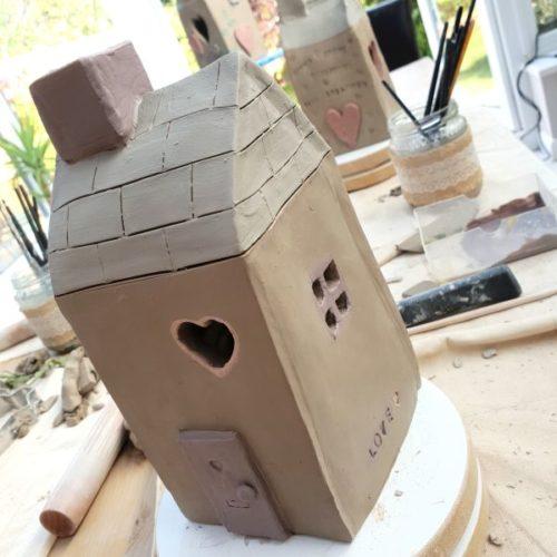 make your own ceramic tea light house