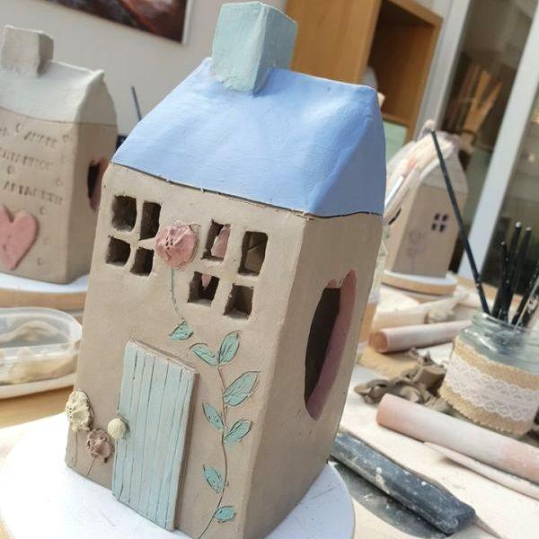 tea light house pottery workshop