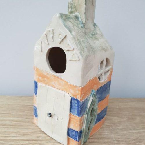 tea light house pottery class