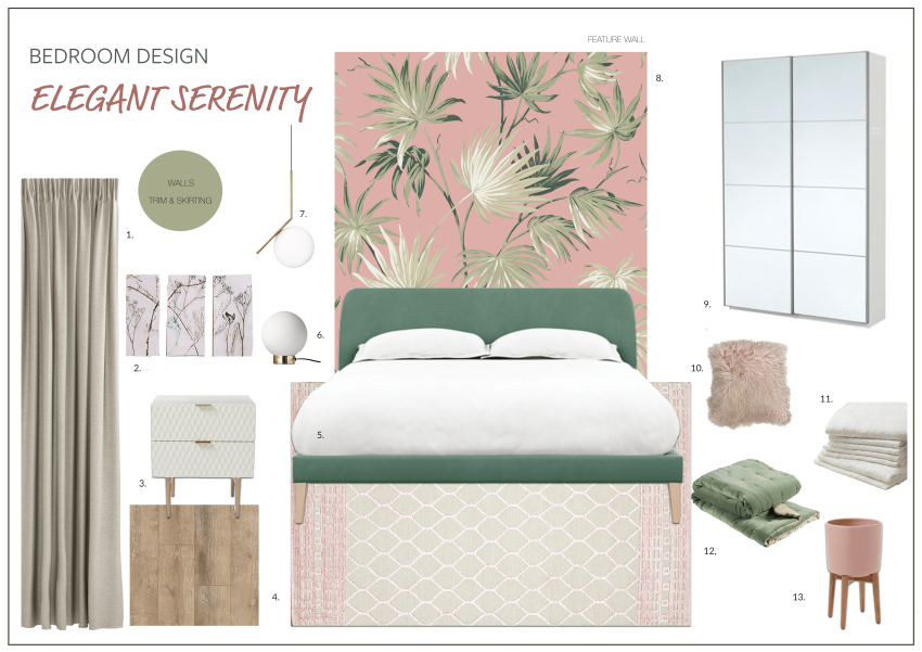 bedroom decor mood board