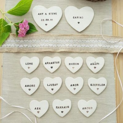 seating plan ceramic hearts