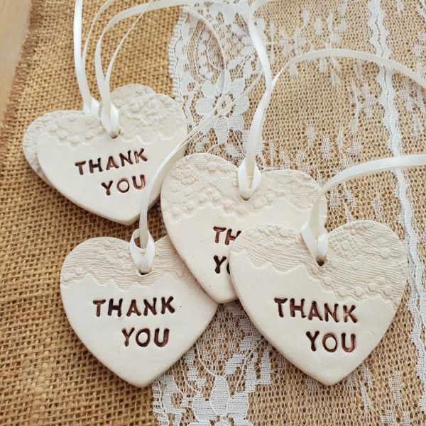 ceramic thank you hearts