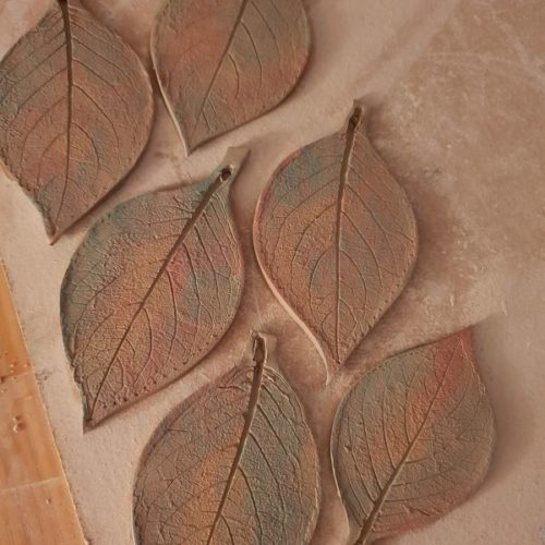 ceramic leaves
