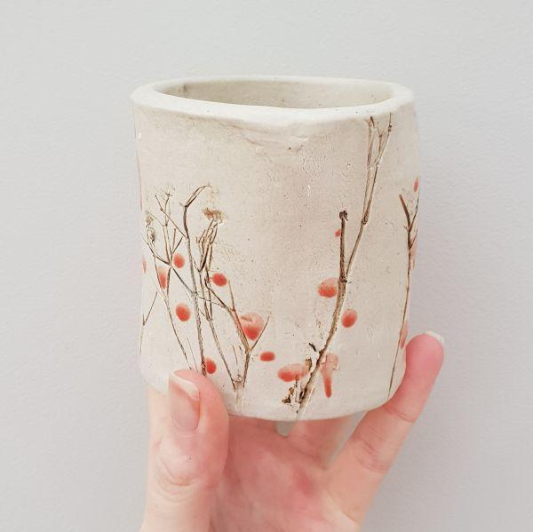 red berries bud vase