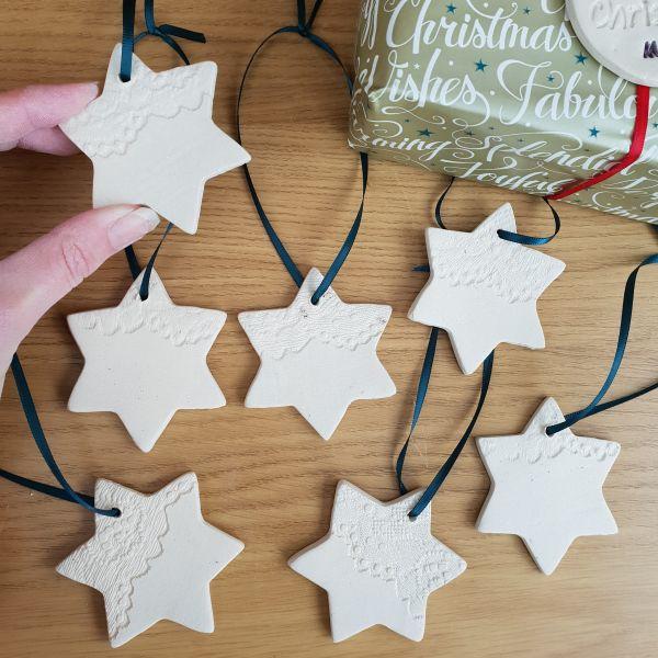hanging ceramic stars