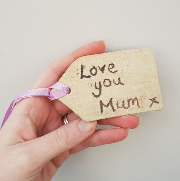 love you mum ceramic gift tag