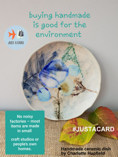 support handmade just a card