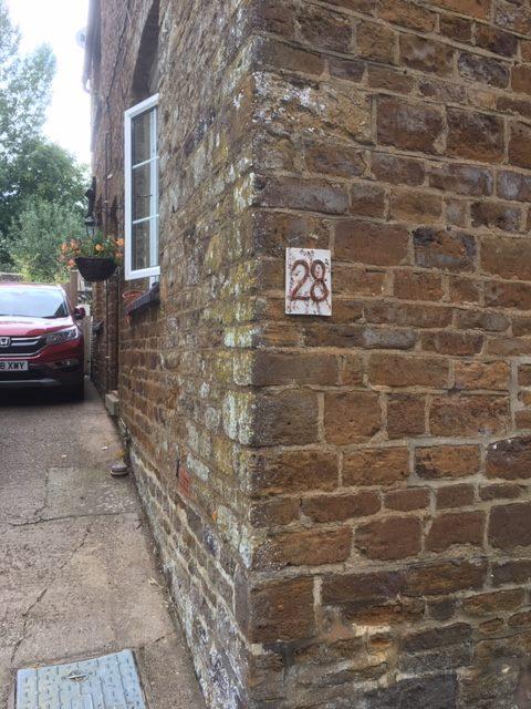custom made ceramic house number plaque