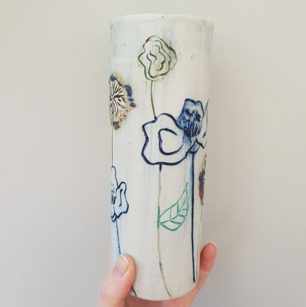 botanical blooms vase