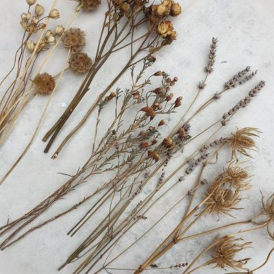 dried wedding flowers