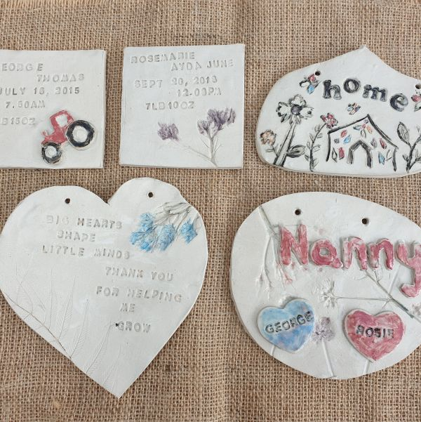 ceramic plaques pottery sessions