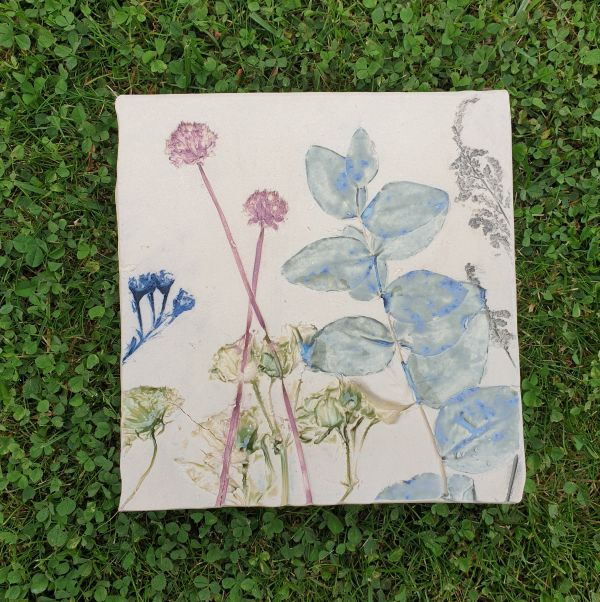 botanical ceramic tile