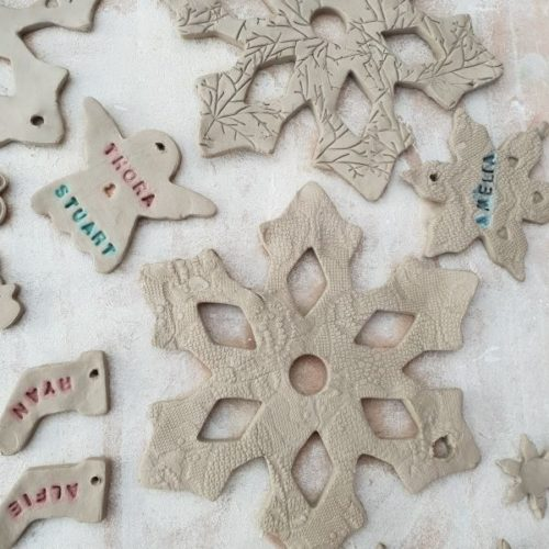 ceramic christmas decorations workshop northamptonshire