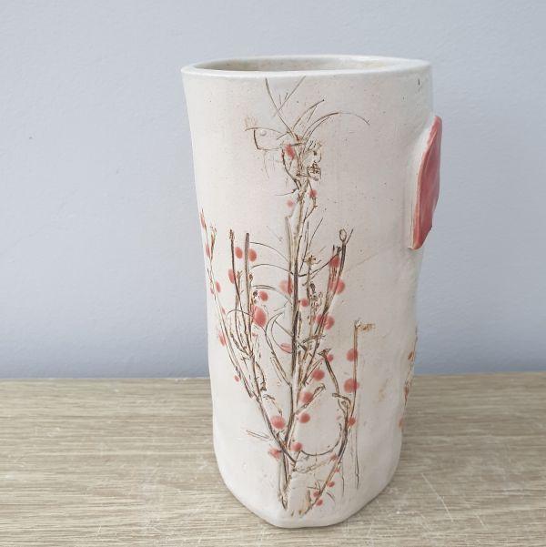 red berries vase