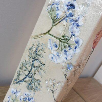 blue hydrangea vase