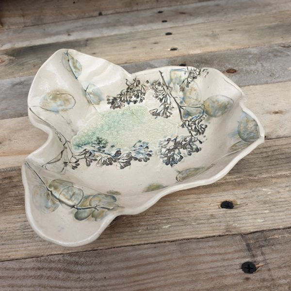 eucalyptus ceramic bowl