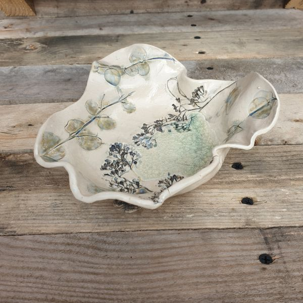 botanical ceramic bowl